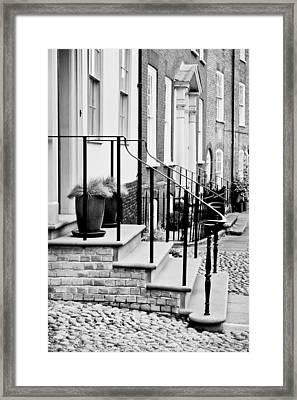 Front Steps Framed Print by Tom Gowanlock