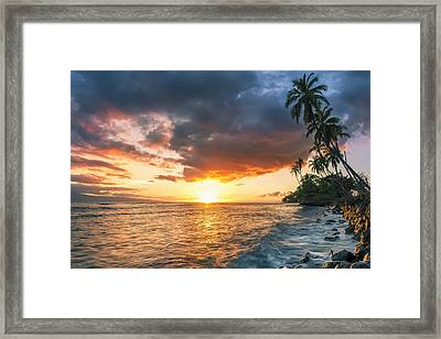 Framed Print featuring the photograph Front Street Lahaina by Hawaii  Fine Art Photography
