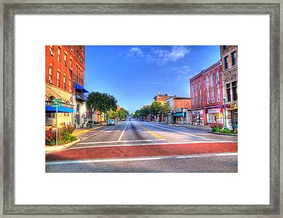 Front Street Marietta Framed Print by Jonny D
