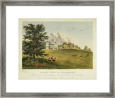 Front View Of Claremont Framed Print by British Library