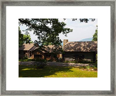 Front View Of The Cabin Framed Print by Robert Margetts