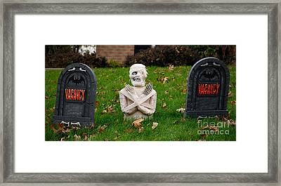 Front Yard Halloween Graveyard Framed Print by Amy Cicconi