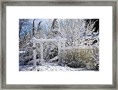 Front Yard Of A House In Winter Framed Print by Elena Elisseeva