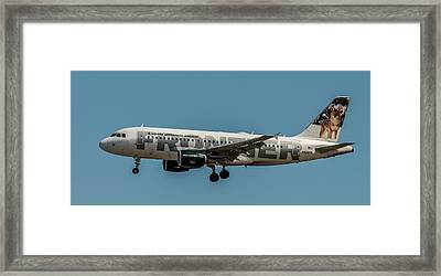 Frontier Airlines 737 Framed Print