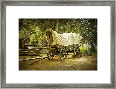 Frontier Covered Wagon Framed Print