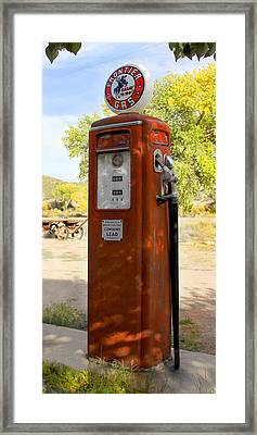 Frontier Gas - Tokheim Gas Pump Framed Print