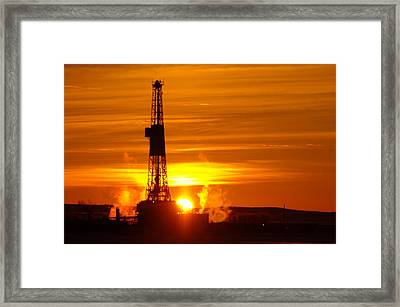 Frontier Nineteen Xto Energy Culbertson Montana Framed Print by Jeff Swan
