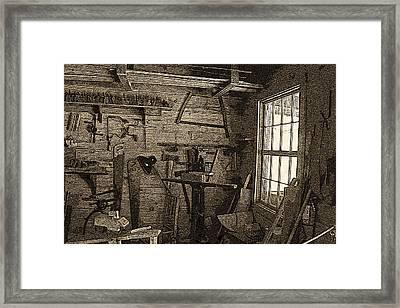 Frontier Woodshop Framed Print