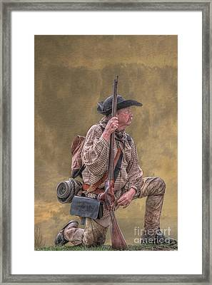Frontiersman Golden Morning Framed Print by Randy Steele