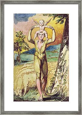 Frontispiece From Songs Of Innocence Framed Print by William Blake