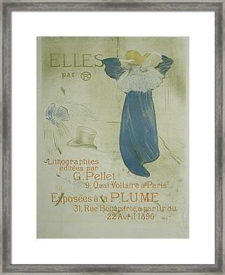 Frontispiece Pour Elles, Henri De Toulouse-lautrec Framed Print by Quint Lox