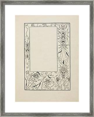Frontispiece To Bon Mots Framed Print