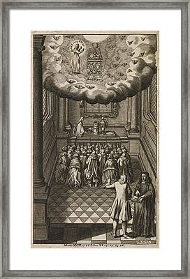 Frontispiece To 'book Of Common Prayer' Framed Print