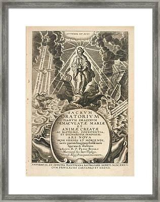 Frontispiece To 'sacrum Oratorium Piarum' Framed Print by British Library