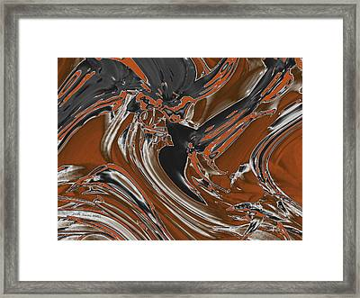 Frost And Woodsmoke  Framed Print