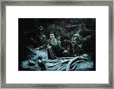 Frost Bite Framed Print