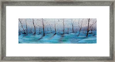 Frost Like Ashes Framed Print by Meaghan Troup