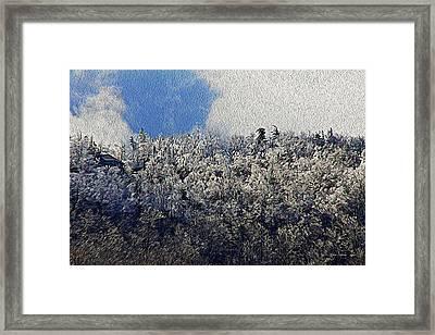 Frost Line 2 Framed Print