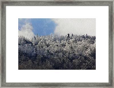 Frost Line Framed Print
