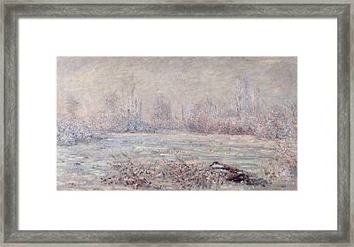 Frost Near Vetheuil Framed Print by Claude Monet