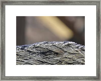 Frost On Metal 1 Framed Print