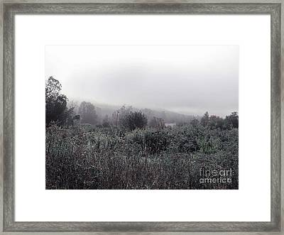 Frost On The Field Framed Print by Linda Marcille