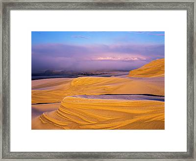 Frost On The Umpqua Dunes  Lakeside Framed Print by Robert L. Potts