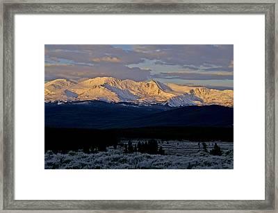 Frost Settles In Framed Print by Jeremy Rhoades
