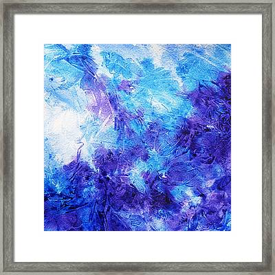 Frosted Blues Fantasy II Framed Print