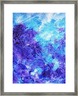 Frosted Blues Fantasy IIi Framed Print