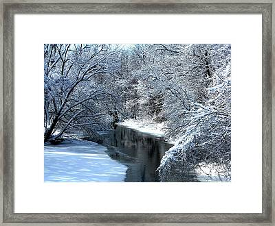 Frosted Creek Framed Print by Debbie Finley