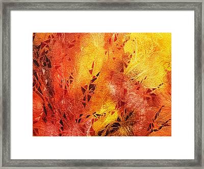 Frosted Fire IIi Framed Print by Irina Sztukowski