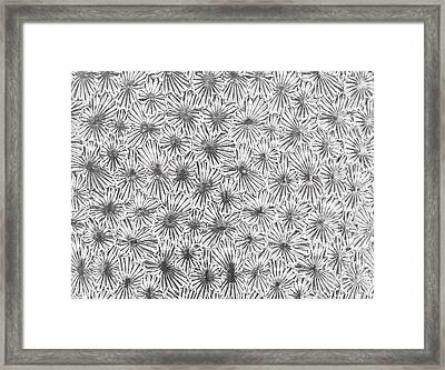 Frosted Glass Pattern Framed Print