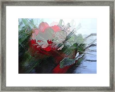 Frosted Hibiscus 2 Framed Print