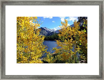 Frosted Mountain Framed Print