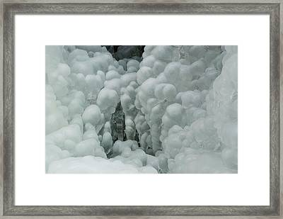 Frosted Waterfall Framed Print