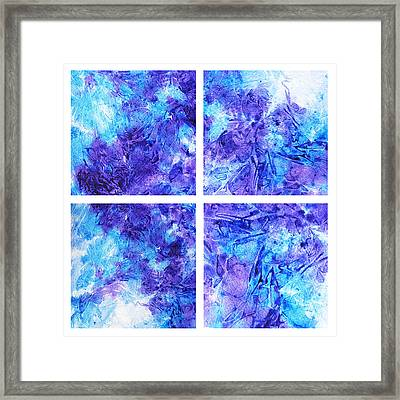 Frosted Window Abstract Collage Framed Print by Irina Sztukowski