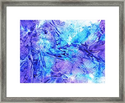 Frosted Window Abstract II  Framed Print by Irina Sztukowski
