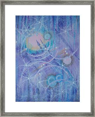 Frosticles Framed Print by Krystyna Spink