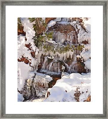 Frosty Cascades Framed Print