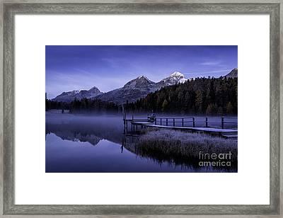 Frosty Dock Framed Print