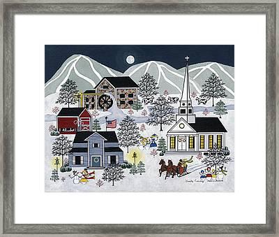 Frosty Evening Framed Print by Medana Gabbard