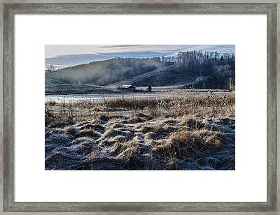 Frosty Farm Morning Framed Print by Sven Brogren