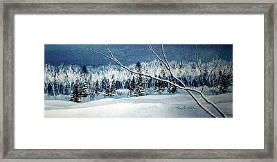 Frosty Forest Valley Framed Print
