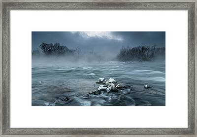 Frosty Morning At The River Framed Print