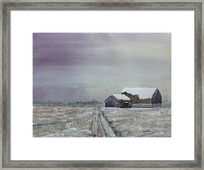 Frosty Morning Framed Print