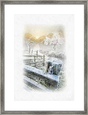 Frosty Morning Framed Print by Mo T