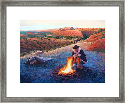 Frosty Morning On The Range Framed Print by Charles Wallis
