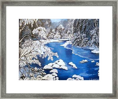 Framed Print featuring the painting Frosty Morning by Sharon Duguay