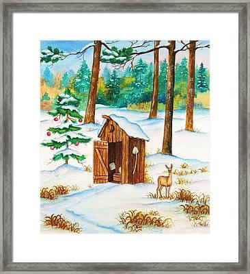 Frosty Morning Walk Framed Print by Cynthia Stewart
